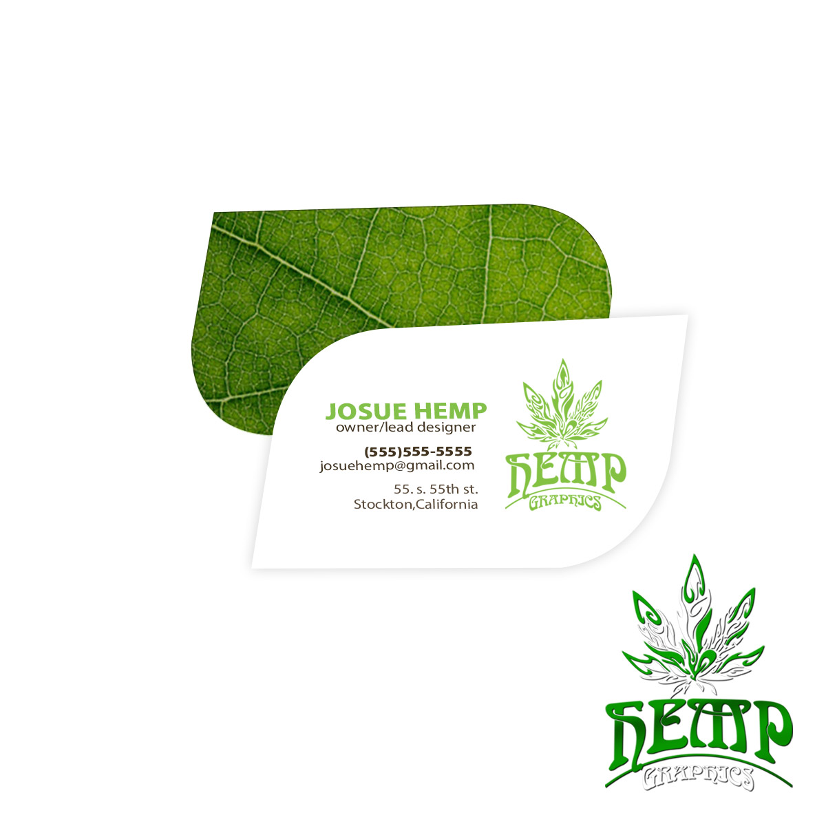 Die Cut Business Cards - Hemp Graphics | Medical Marijuana ...