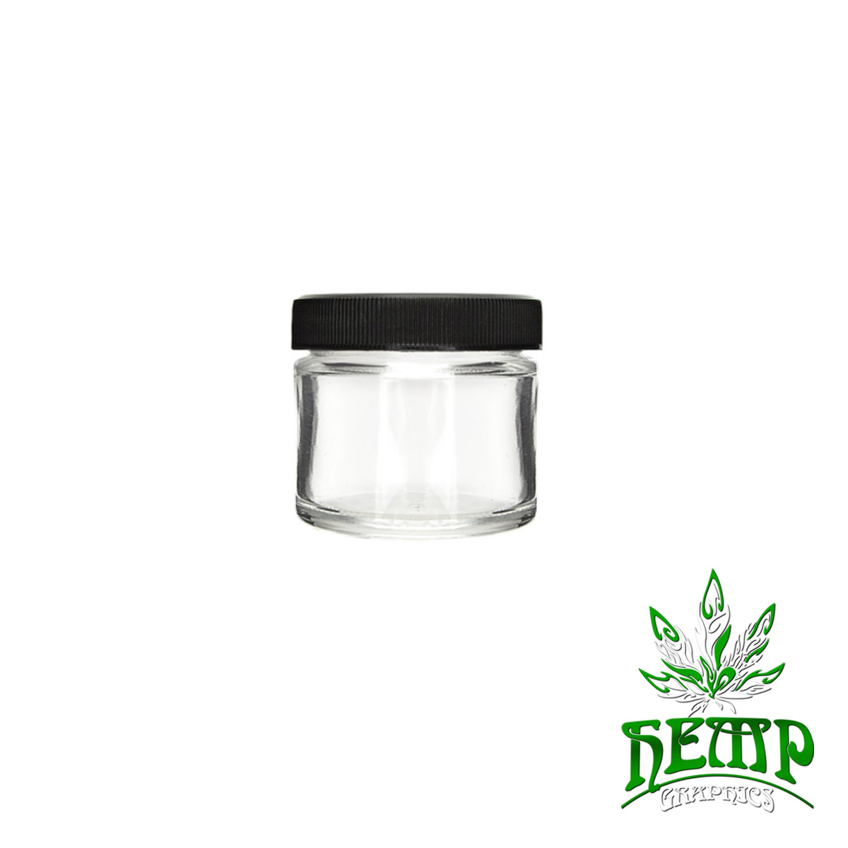 2oz Glass Jars Screw Cap240 Count Hemp Graphics Medical
