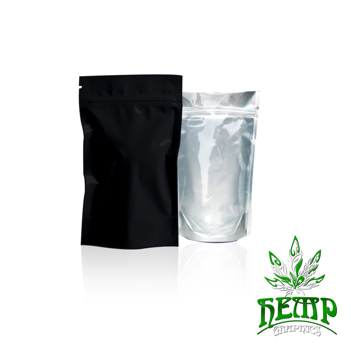 Mylar Bags 1000 Count Hemp Graphics Medical Marijuana